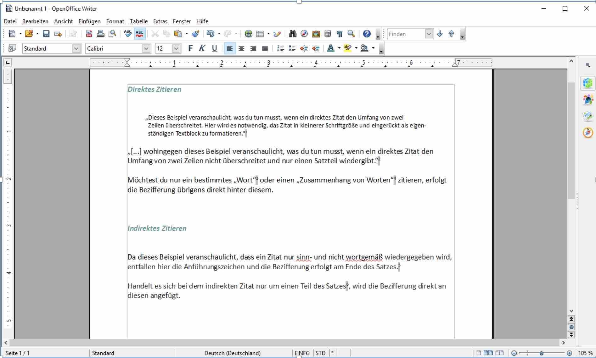 Deutsche Zitierweise Zitieren Mit Fussnoten Regeln Beispiele