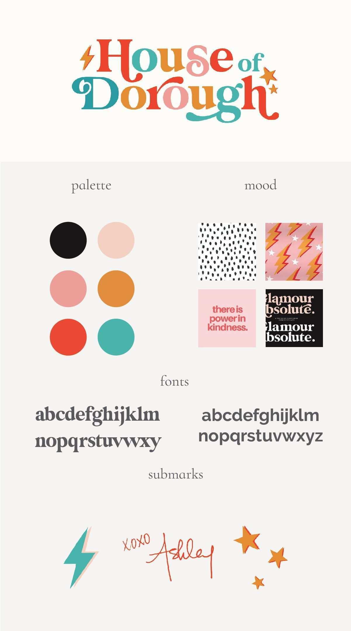 Colorful Branding House Of Dorough Retro Logo Design Branding Design Branding Design Logo