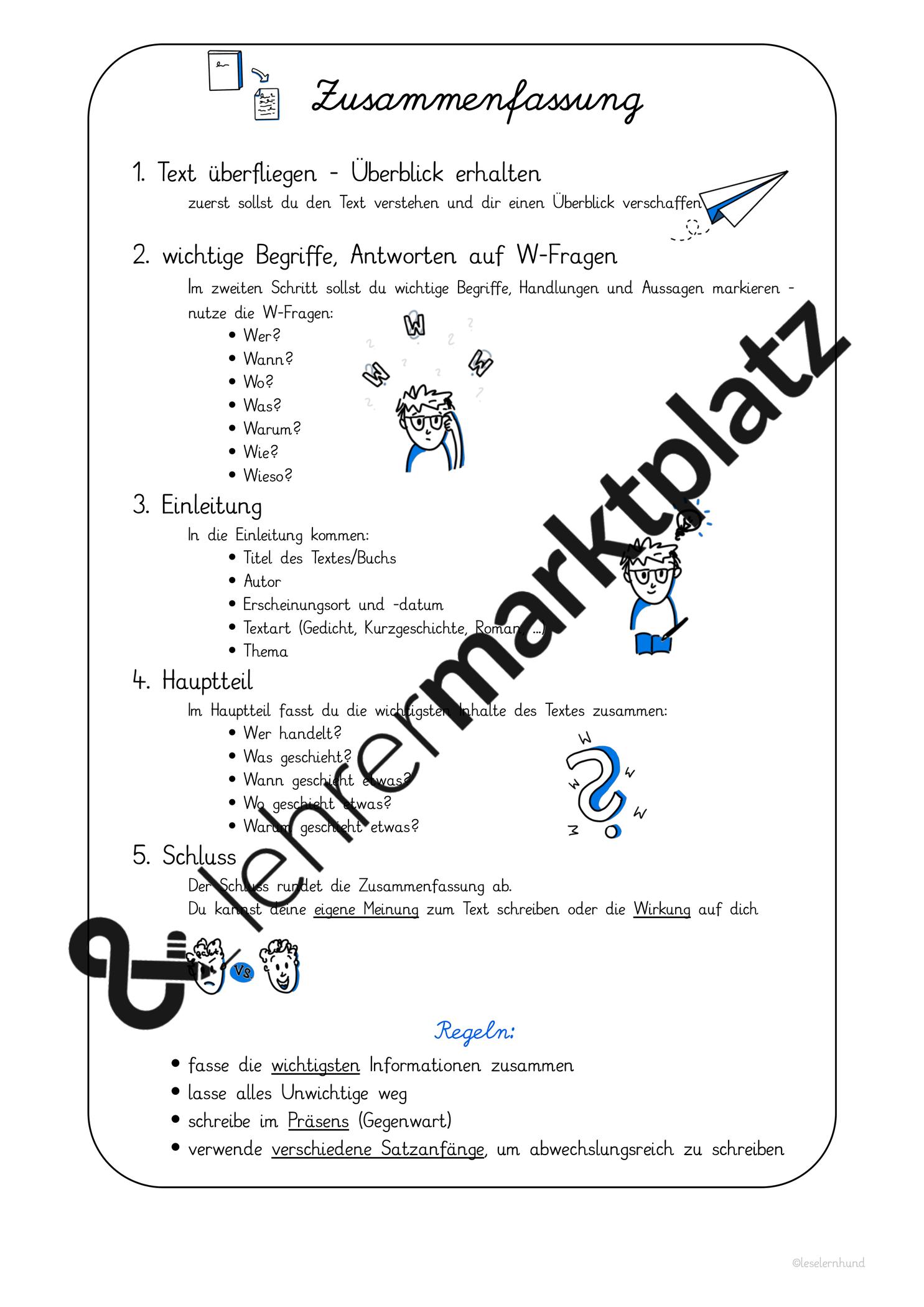 Zusammenfassung Schreiben Ubersicht Und Flipbook Unterrichtsmaterial Im Fach Deutsch Inhaltsangabe Schreiben Zusammenfassung Schreiben