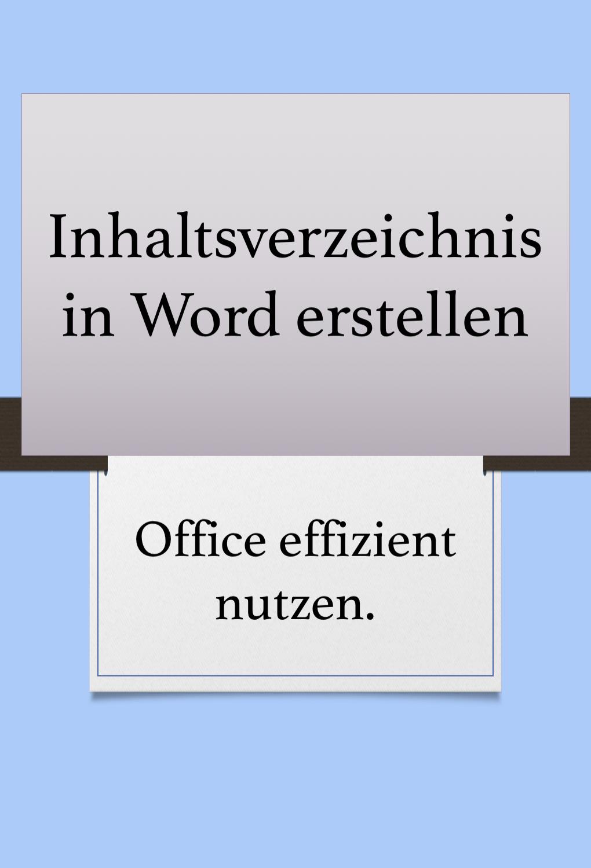 Inhaltsverzeichnisse In Word In 2020 Words Office Word Programing Software