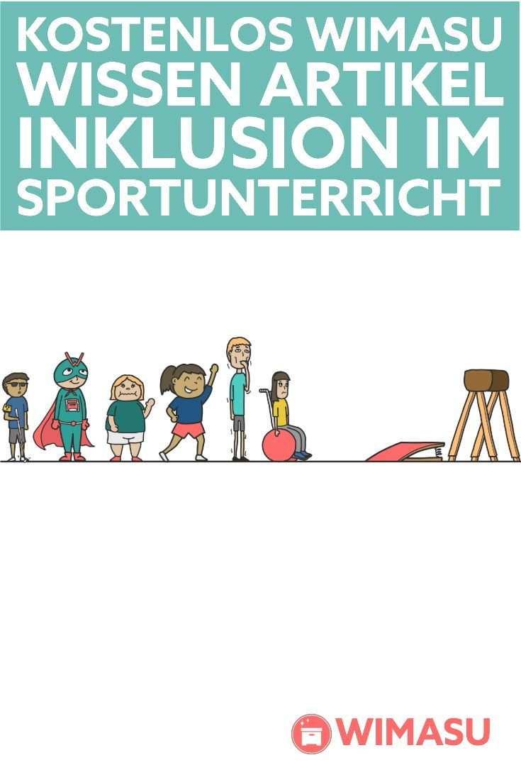 Worum Geht Es Beim Inklusiven Sportunterricht Eigentlich Sportunterricht Sport Grundschule