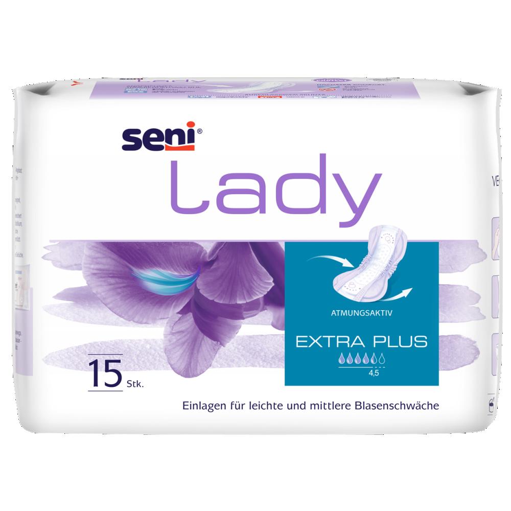 Seni Lady Extra Plus Inkontinenz Vorlagen 20x15 Stk Mittlere Starke