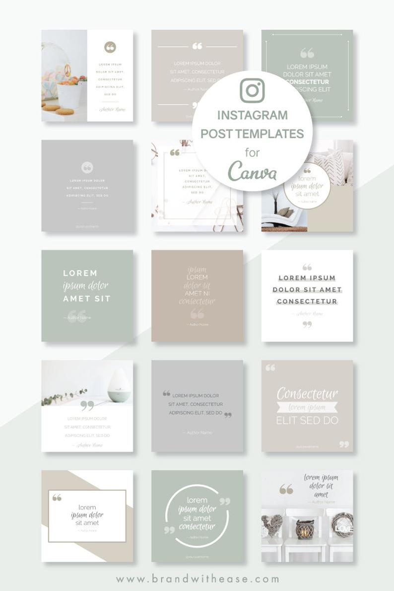 Instagram Post Templates Canva Templates Social Media Etsy Instagram Post Template Instagram Template Design Instagram Feed Layout