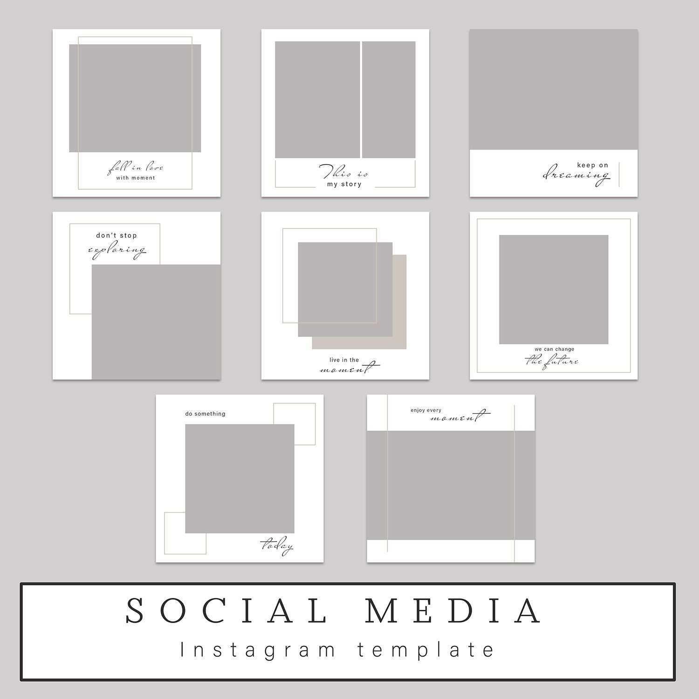 Photoshop Template Instagram Post Template Facebook Etsy Instagram Template Instagram Square Instagram Template Design