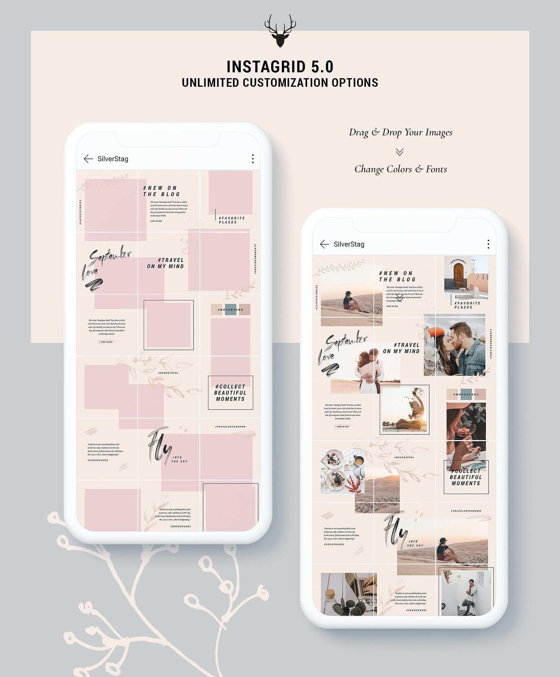Instagrid 5 0 Instagram Puzzle Instagram Feed Layout Instagram Template Design Instagram Grid Design