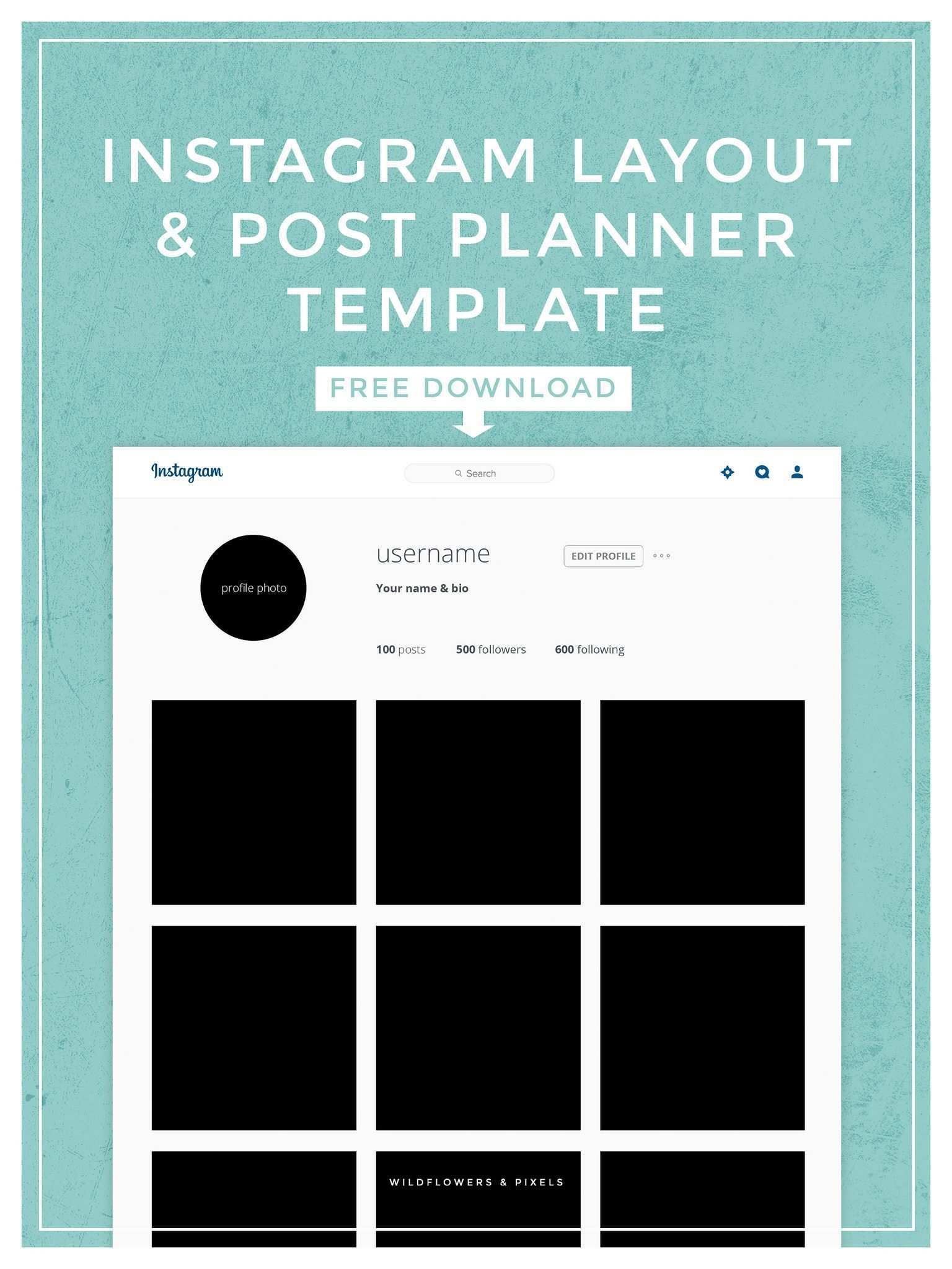 Instagram Layout Post Planner Template Instagram Layout Instagram Planner Instagram Post Template