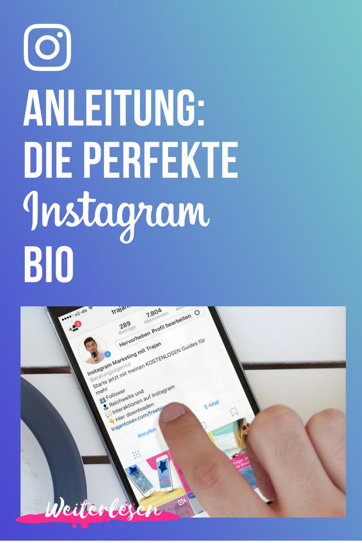 Instagram Biografie So Schreibst Du Den Perfekten Instagram Steckbrief Instagram Anleitung Instagram Tipps Instagram