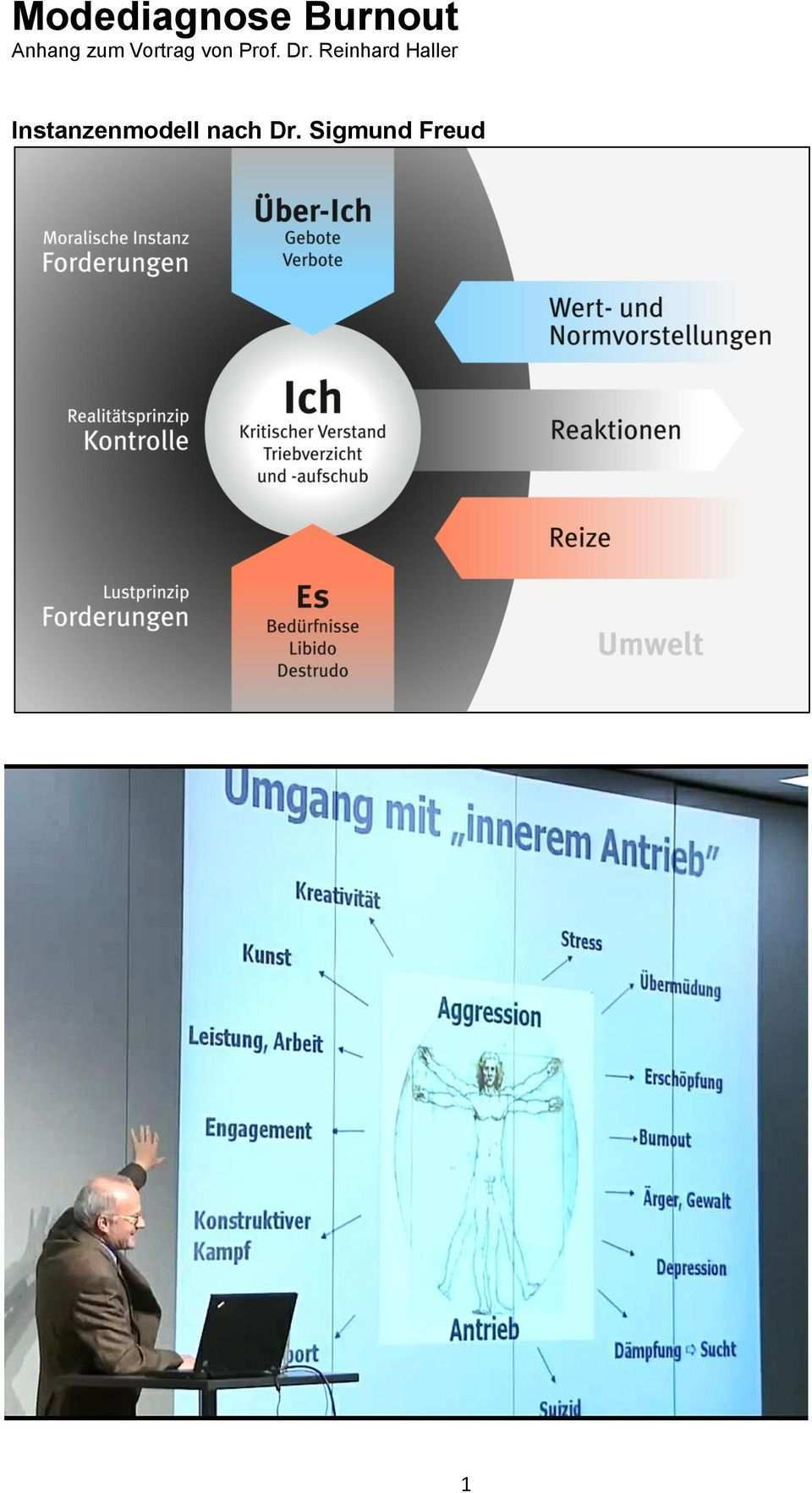 Modediagnose Burnout Anhang Zum Vortrag Von Prof Dr Reinhard Haller Instanzenmodell Nach Dr Sigmund Freud Pdf Free Download