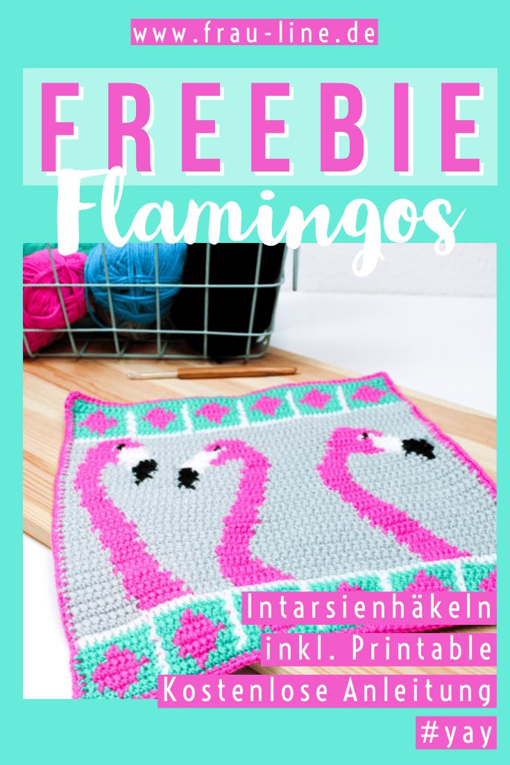 Hakelanleitung Der Woche Intarsienhakeln Mit Flamingos Frau Line Hakeln Anleitung Anleitungen Hakelanleitung