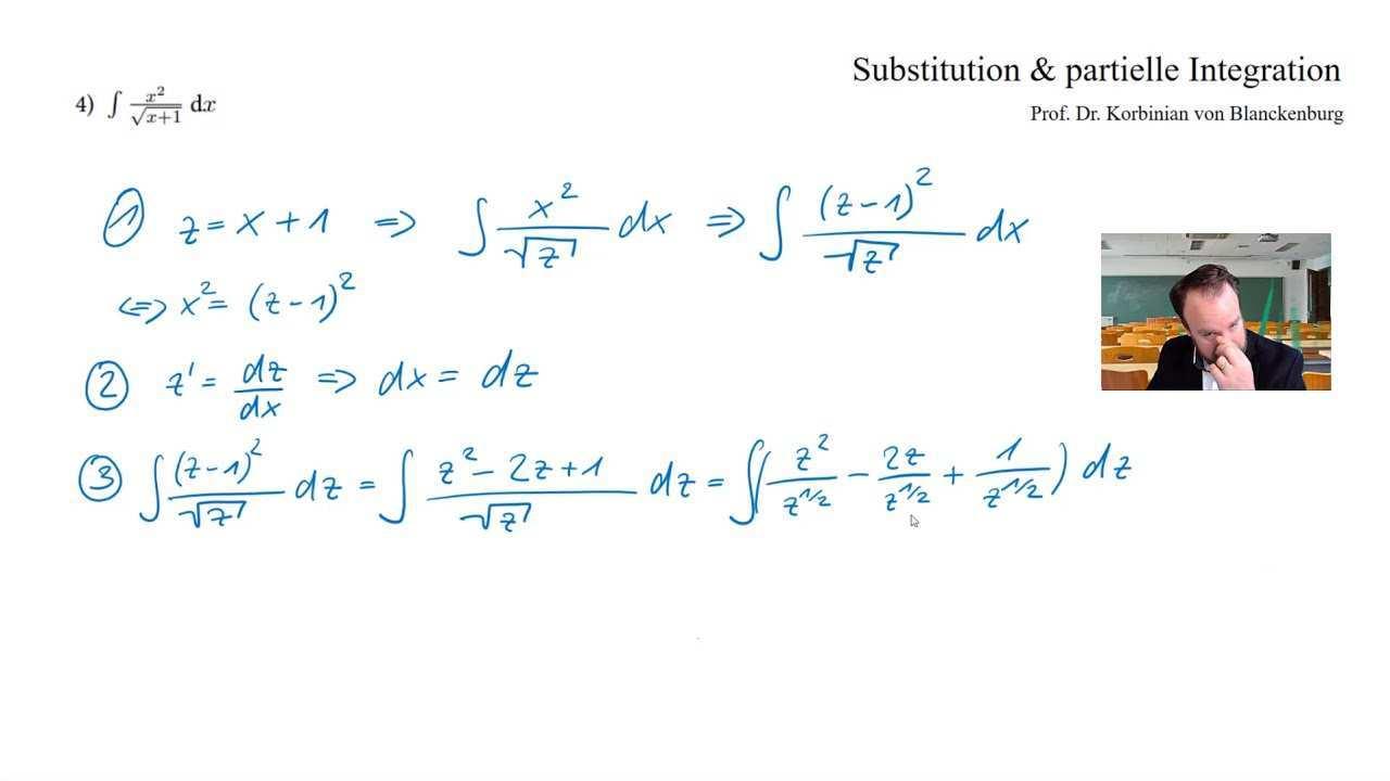 Aufgaben Zur Integration Durch Substitution Und Partieller Integration Youtube