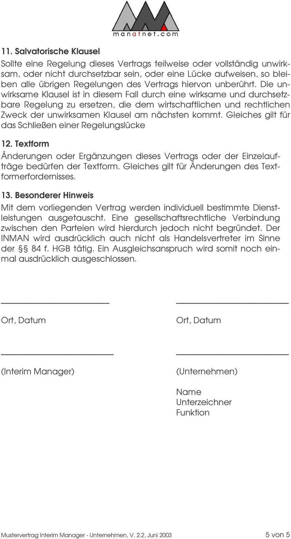 Mustervertrag Interim Manager Unternehmen Dienstvertrag Zwischen Dem Unternehmen Beispiel Gmbh Im Folgenden Unternehmen U N D Pdf Free Download