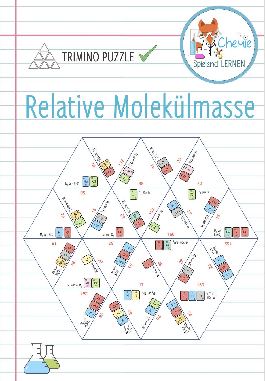 Relative Molekulmasse Trimino Unterrichtsmaterial Im Fach Chemie In 2020 Lernen Chemie Chemieunterricht