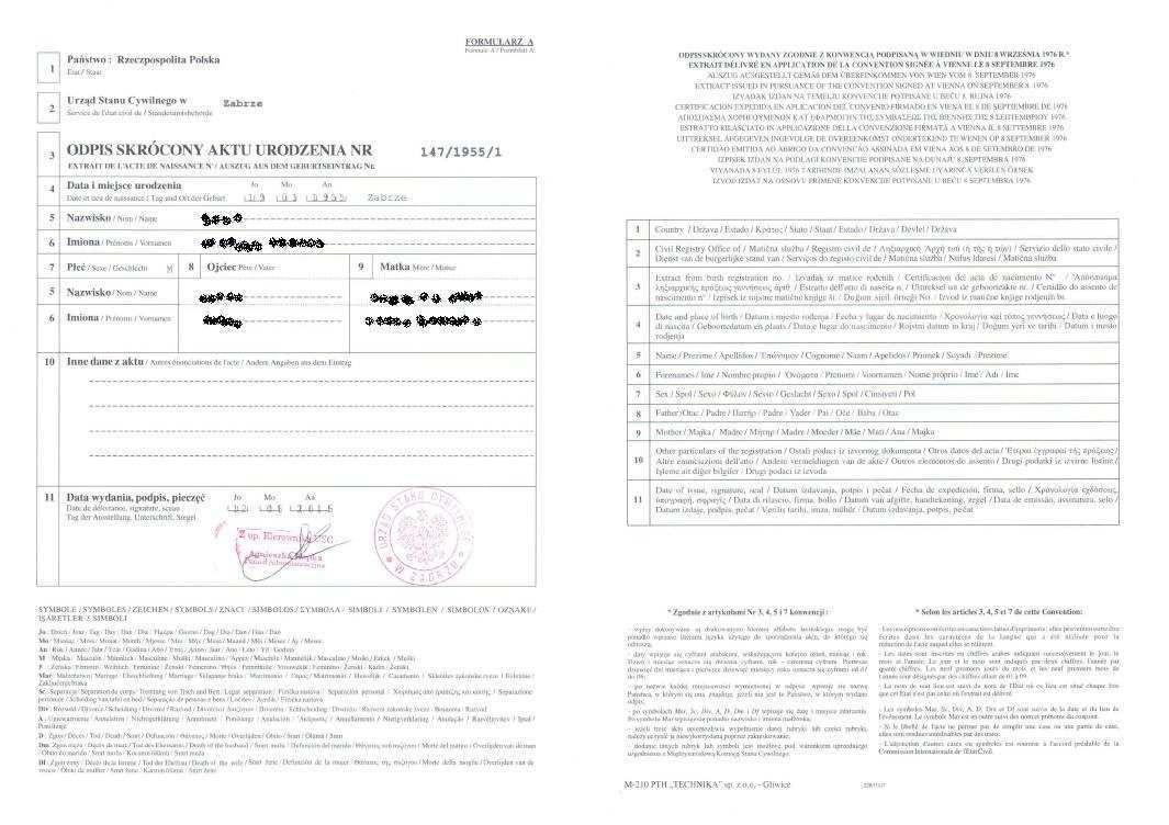 Internationale Polnische Geburtsurkunde Unterlagen Aus Polen Beschaffung Von Abschriften Von Gerichtsurteilen Geburtsurkunden Heiratsurkunden Sterbeurkunden Taufurkunden Grundbuchauszuge Und Handelsregisterauszuge