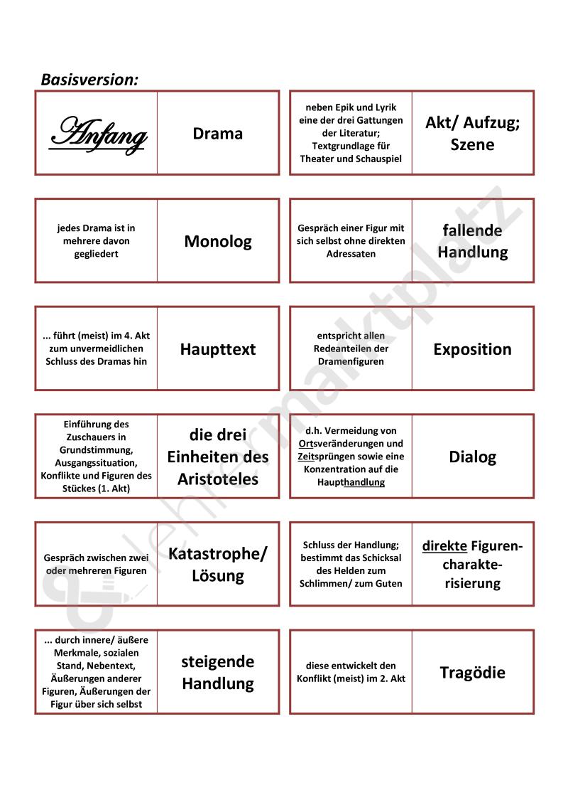 Dramenanalyse Szenenanalyse Fachbegriffe Domino Spiel Binnendifferenziert Mochtest Du Selbst Erstellte Digitale U Lernen Tipps Schule Domino Spiele Drama
