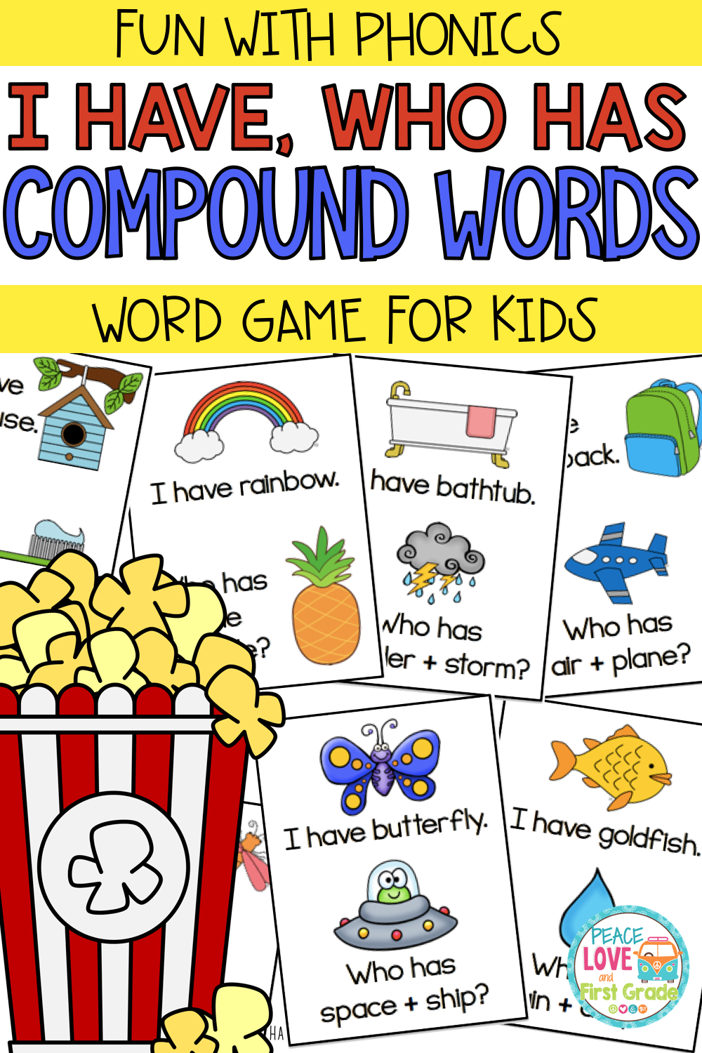 Compound Words Compound Words Word Games For Kids First Grade Reading