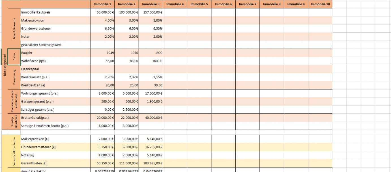 Lieblich Investitionsrechnung Immobilien Excel Vorlage Excel Vorlage Vorlagen Investition