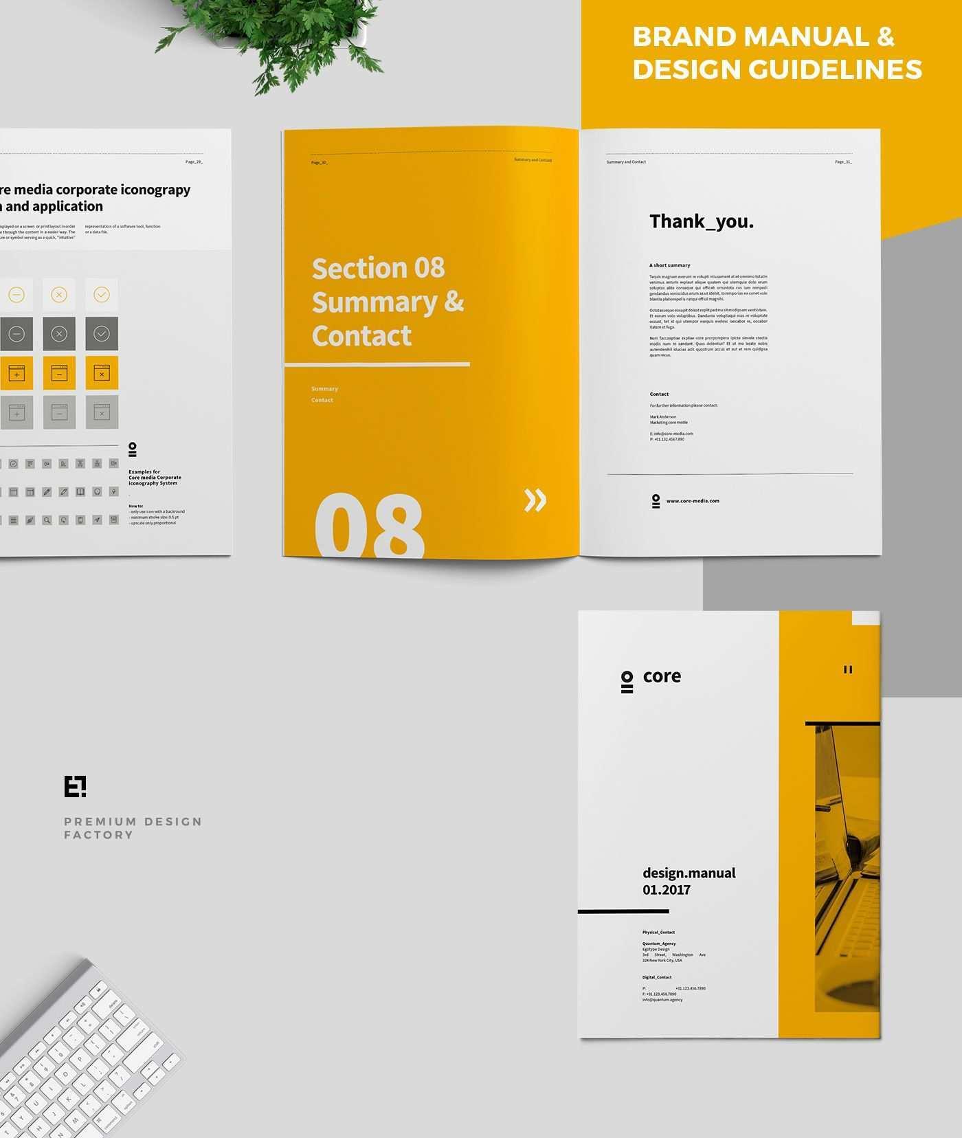 Core Brand Manual Guidelines On Behance Booklet Design Workbook Design Brand Manual