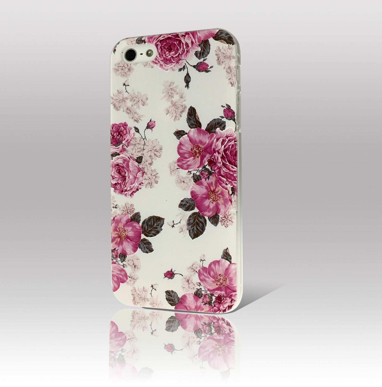 0 5mm Blumen Hulle Fur Iphone 5s 5 4s 4 Premium Pc Schutz Cover Case Bumper Iphone 5s Iphone Iphone Hulle
