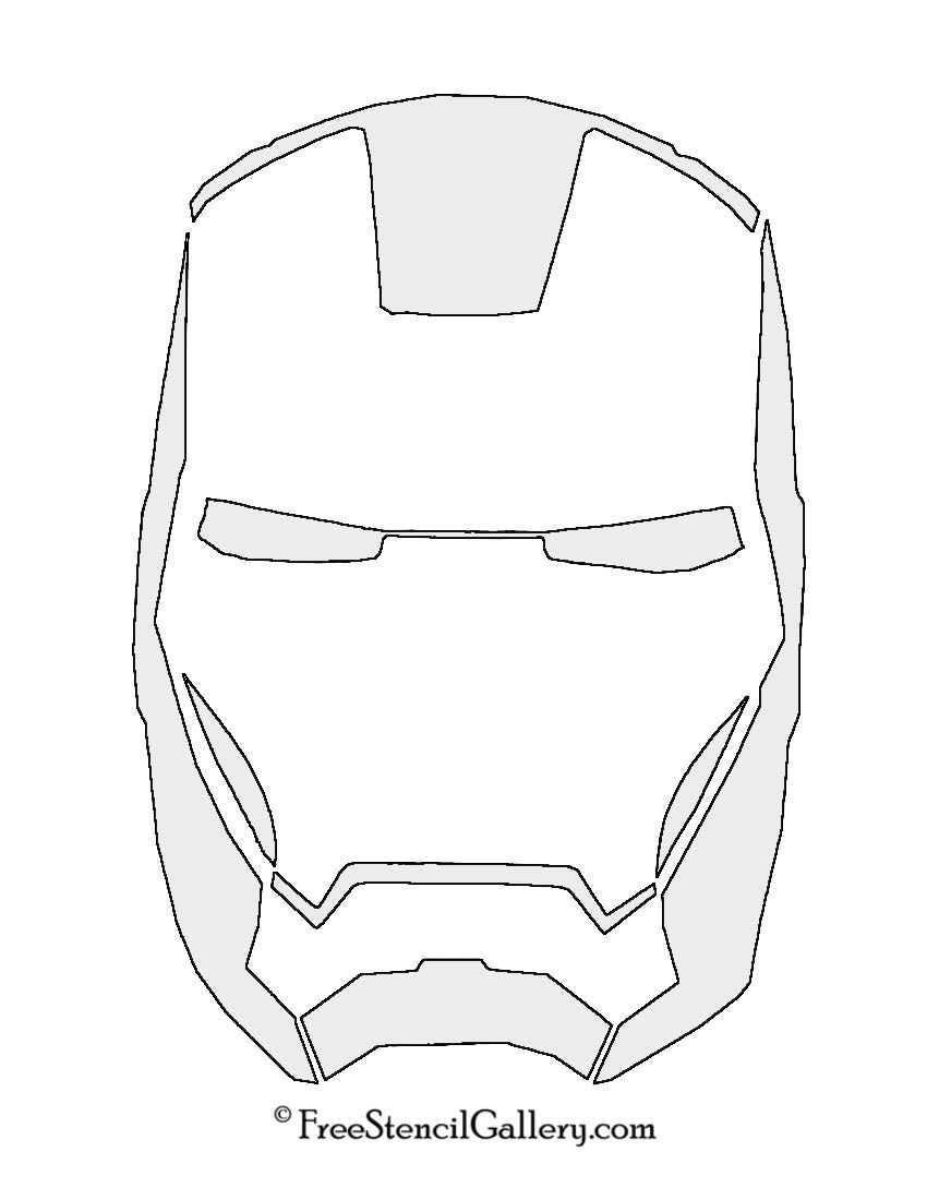 Iron Man Mask Stencil Free Stencil Gallery Iron Man Pumpkin Iron Man Mask Iron Man Birthday