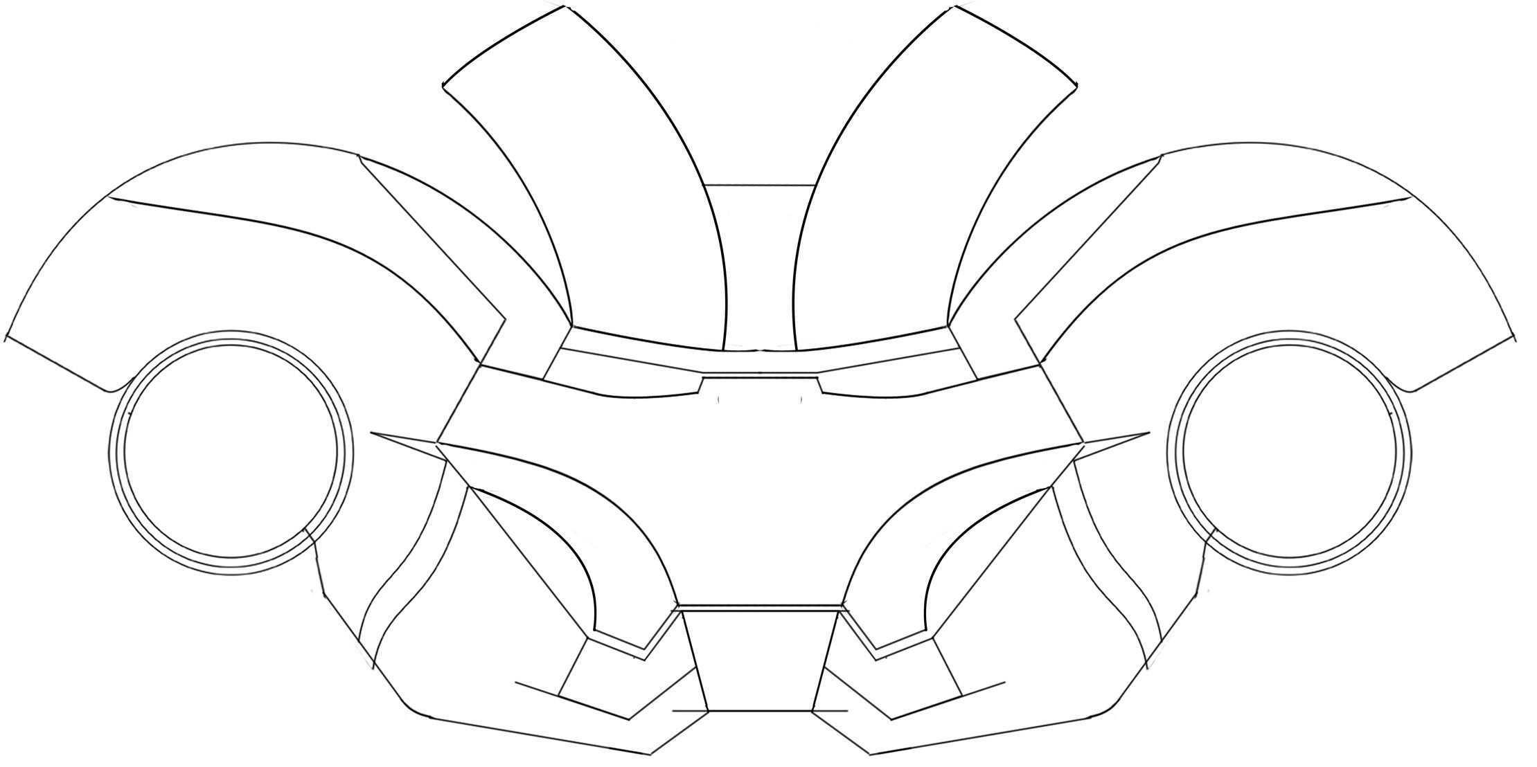 Ironman Helmet Template Iron Man Helmet Iron Man Mask Iron Man Fan Art