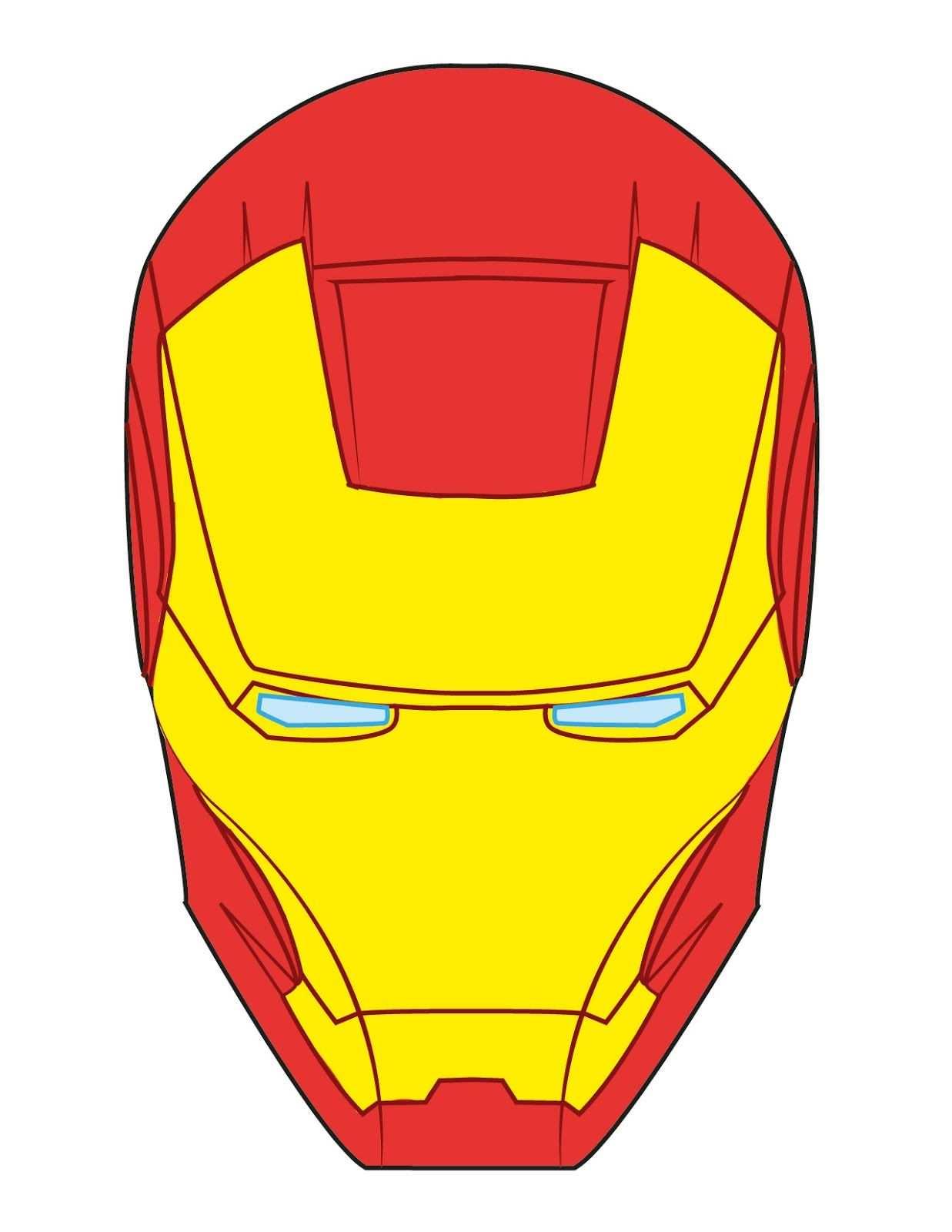 Ironman Mask Jpg 1237 1600 Gesichtsschablone Iron Man Geburtstag Masken Basteln