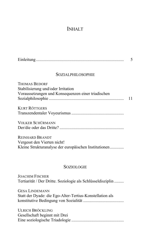 Pdf Statt Der Dyade Die Ego Alter Tertius Konstellation Als Konstitutive Bedingung Von Sozialitat