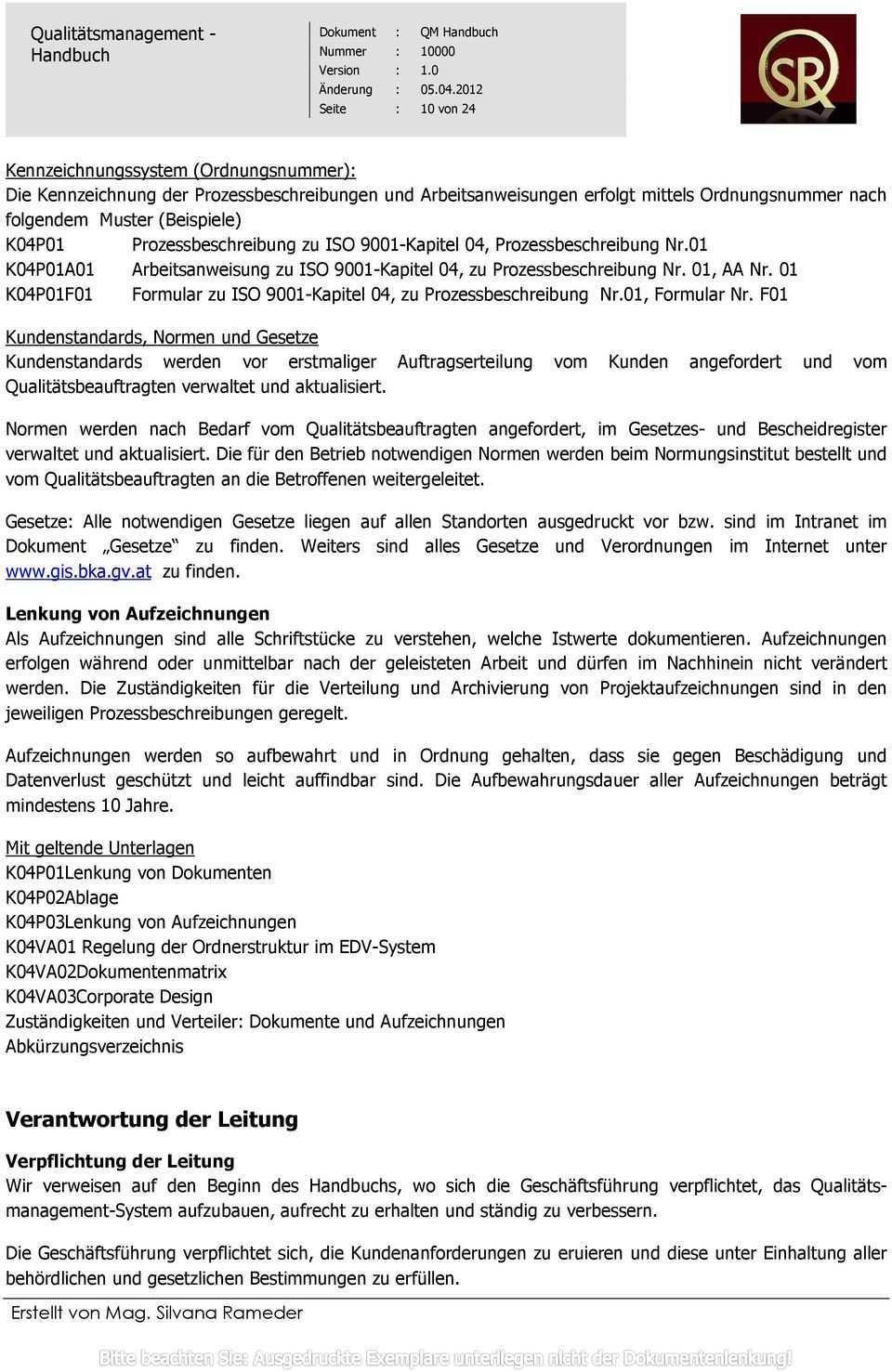 Qualitatsmanagement Handbuch Pdf Kostenfreier Download