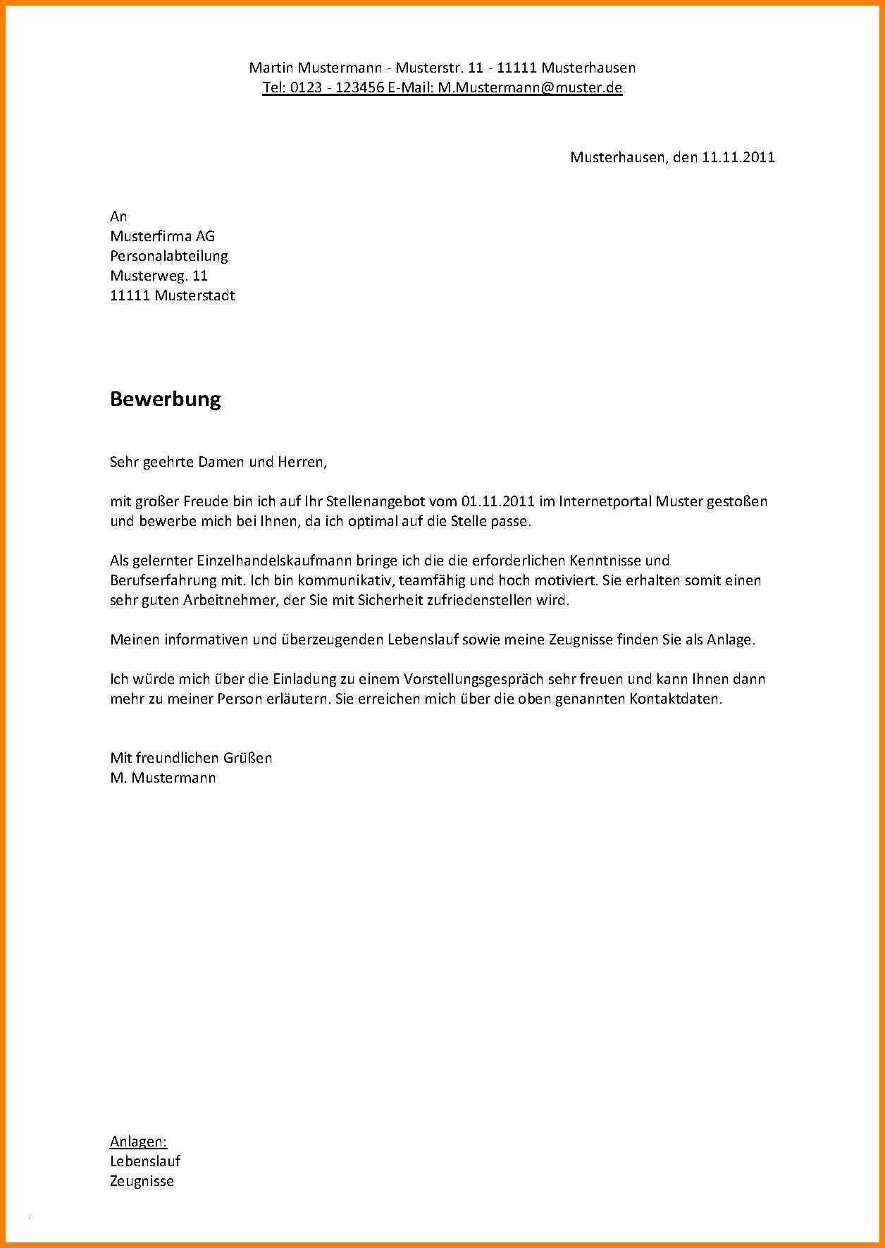 Einzigartig Lebenslauf Ohne Bild Briefprobe Briefformat Briefvorlage Lebenslauf Lebenslauf Muster Bewerbung