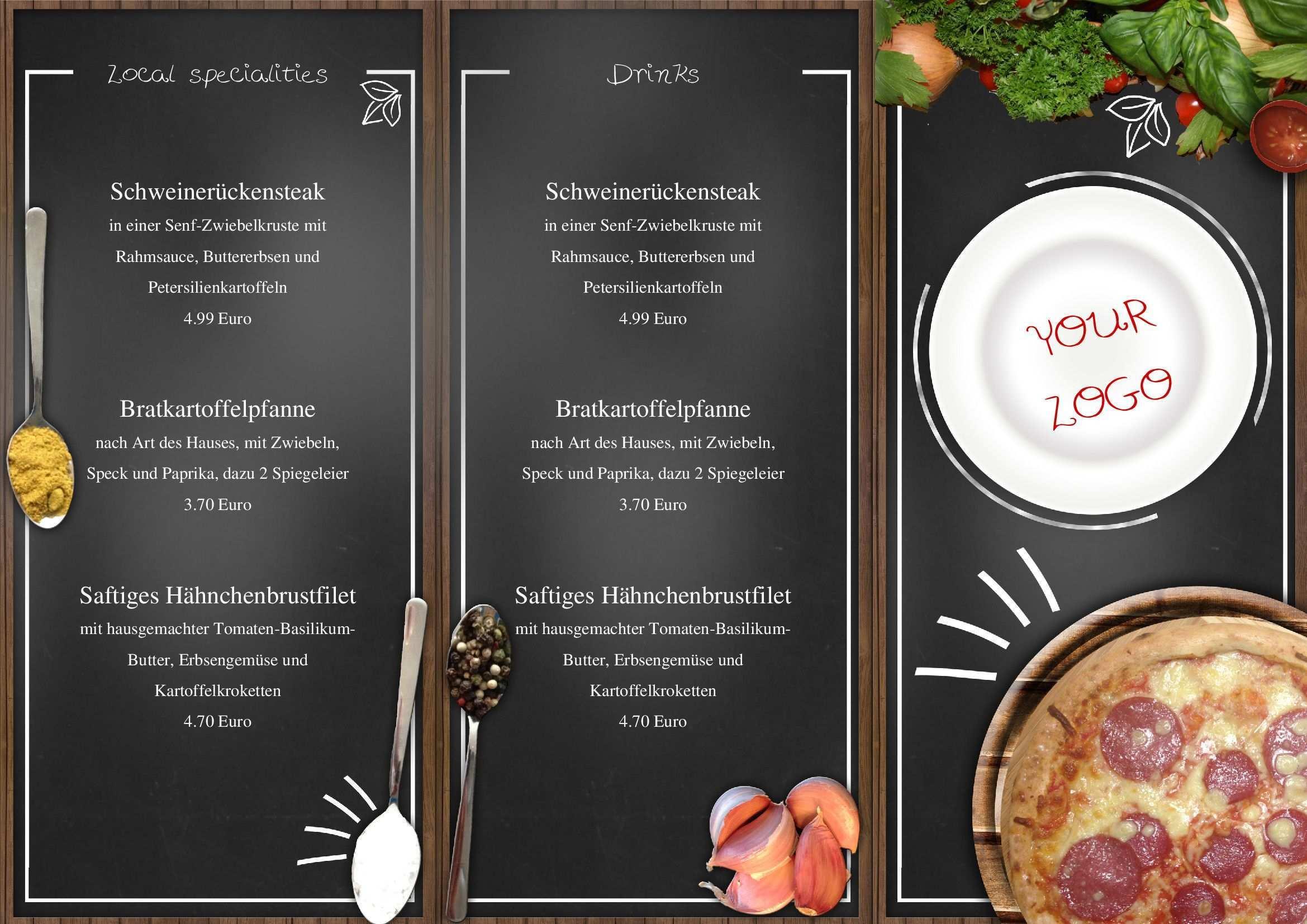 Mit Diese Speisekarte Im Zick Zack Falz Gestalten Sie Die Zukunft Ihres Restaurants Bzw Bistro Sie Konnen Alle Tex Italienische Speisekarte Speisekarte Essen
