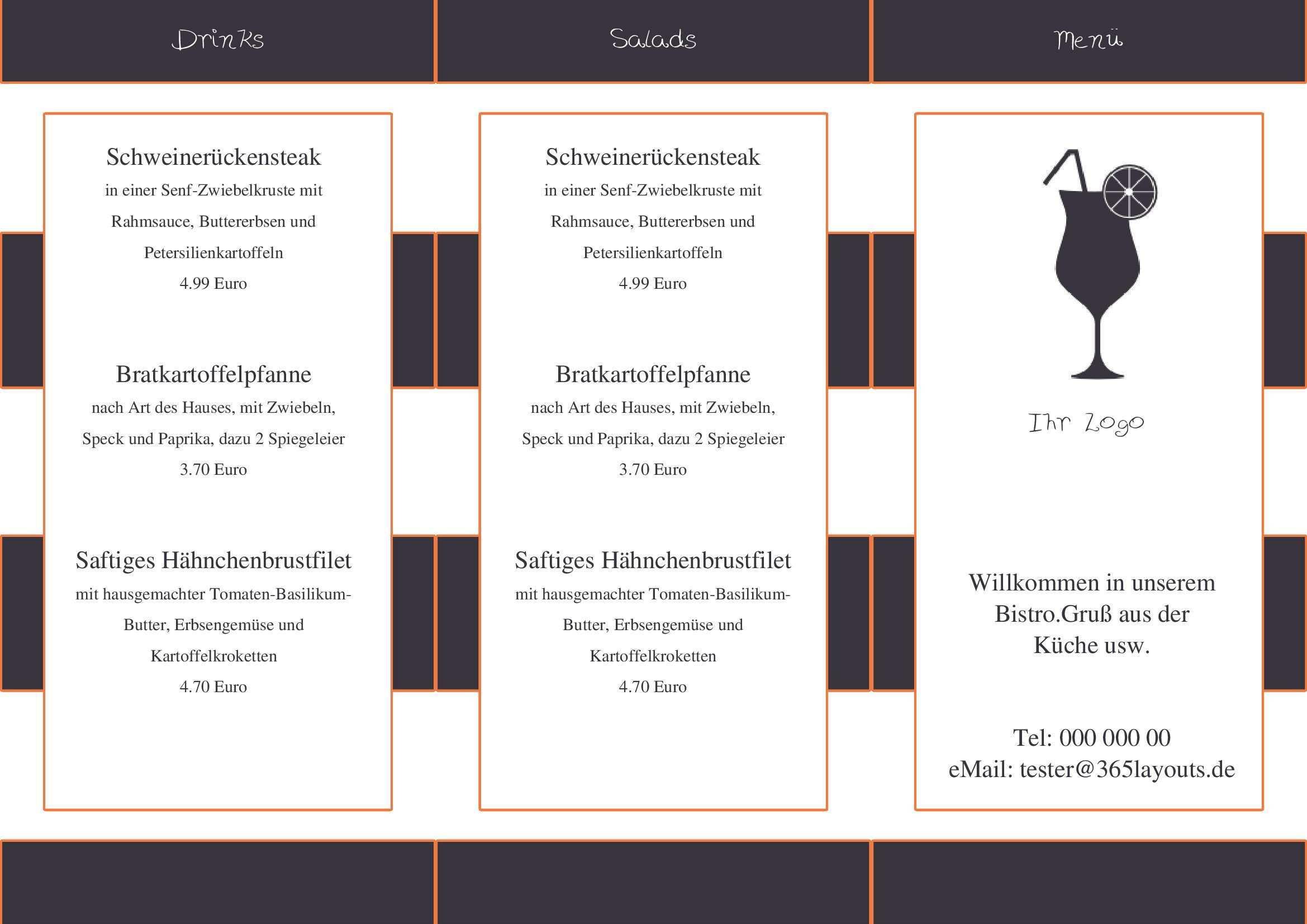 Pin Auf Menu Card Todays Menu Speisekarte Tageskarte