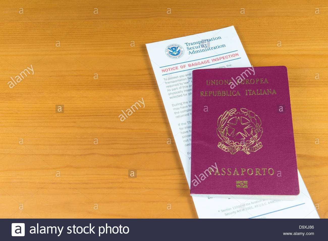 Uns Reisepass Stockfotos Und Bilder Kaufen Alamy