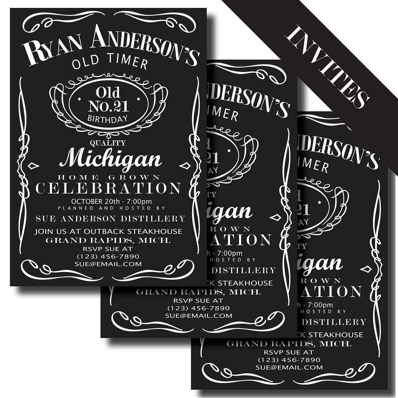 Invites Jack Daniels Birthday Printable Birthday Invitations Jack Daniels Label