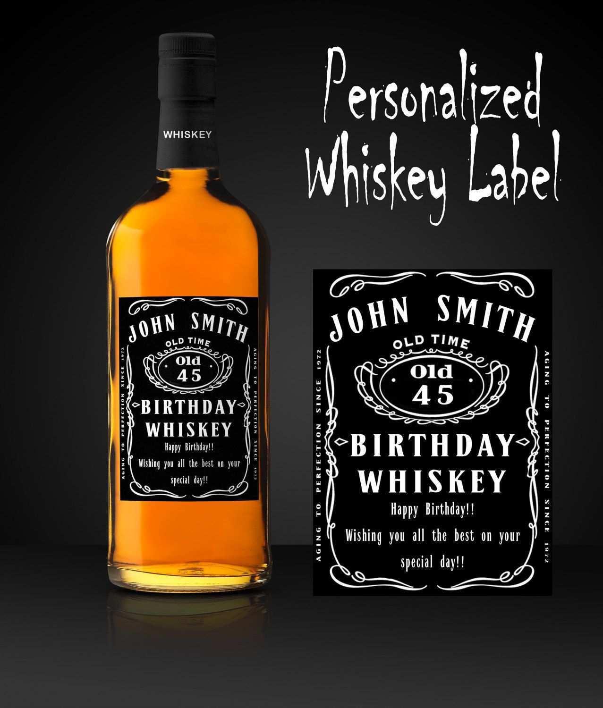 Geburtstags Whiskey Etikett Personalisiertes Whiskyflaschen Etikett Whisky Etikett Druckbares Etikett Digitales Whiskey Etike Whiskyflasche Whisky Flaschen
