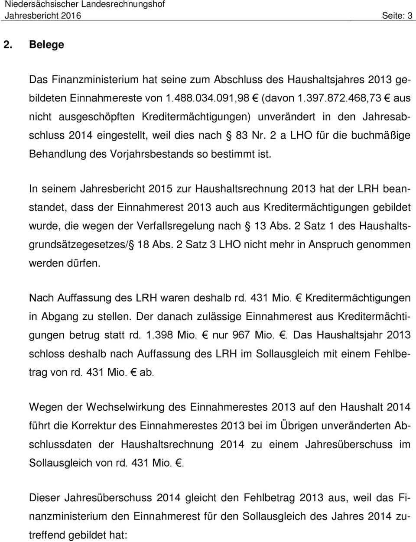 Jahresbericht Des Niedersachsischen Landesrechnungshofs 2016 Zur Haushalts Und Wirtschaftsfuhrung Pdf Kostenfreier Download