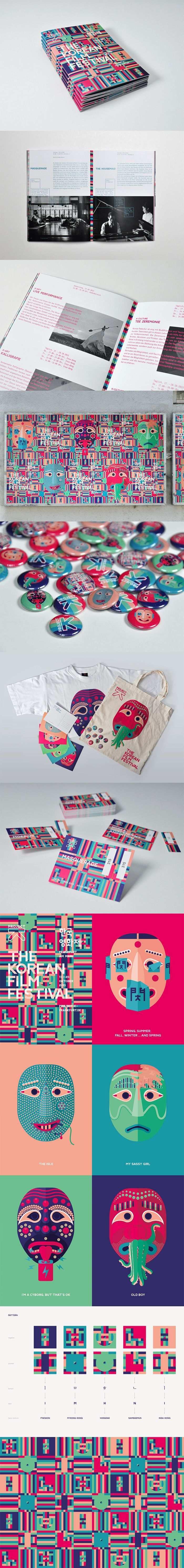 Project K The Korean Film Festival Festival Kampagne 2013 Grafik Design Magazin Design Grafik Design Logos