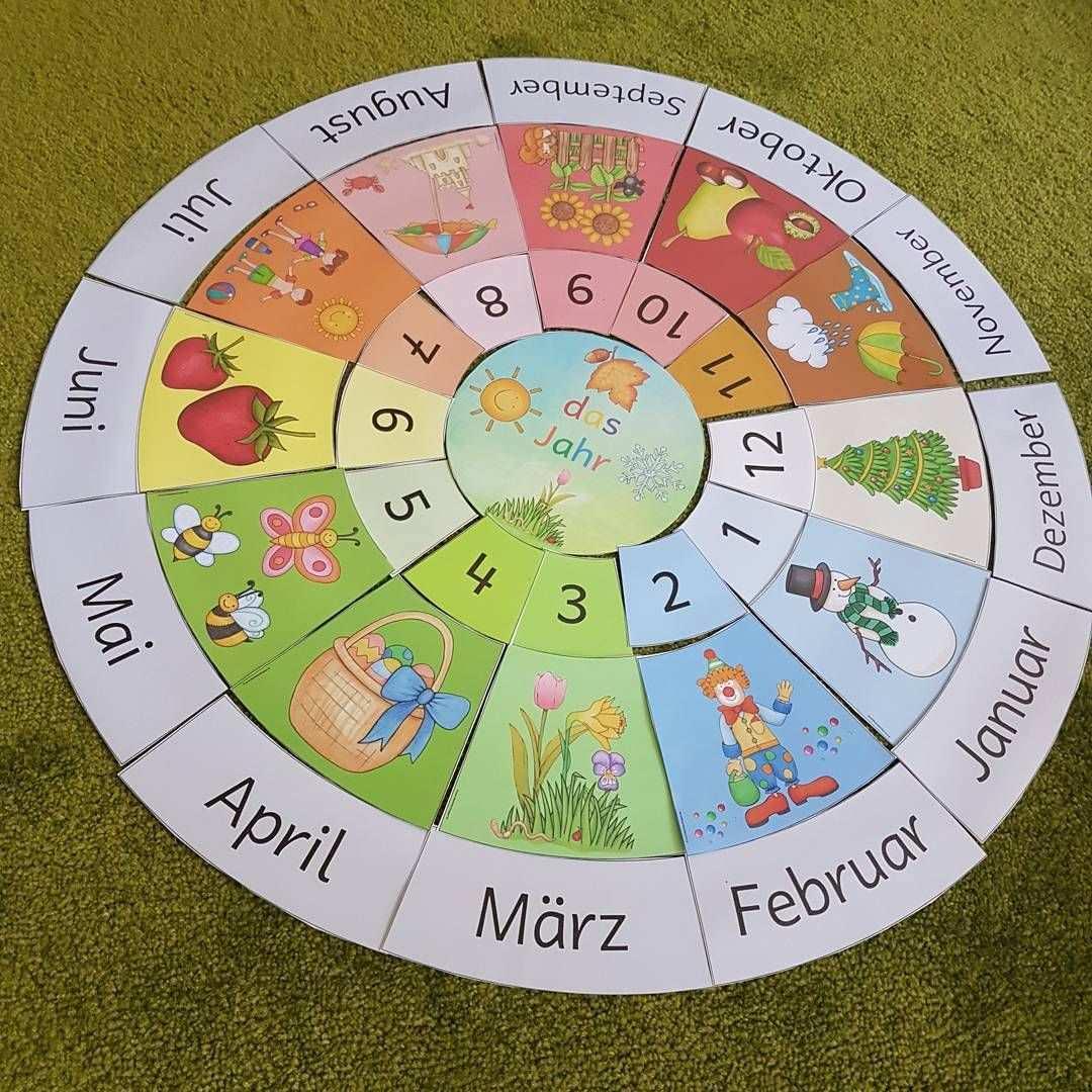 Diesen Tollen Jahreskreis Habe Ich Bei Ideenreiseblog Gefunden Tausend Dank Mit Ihm Kann Ich Das Jahr Viel Besser Vi Kindergarten Fun Education Montessori