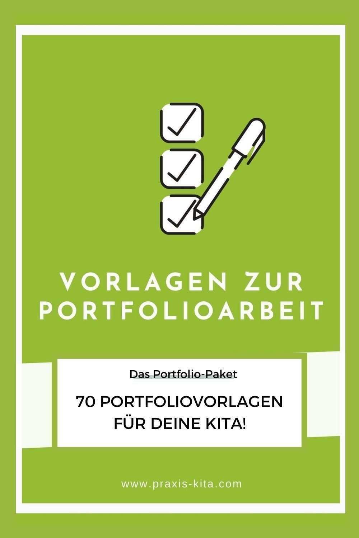 Vorlagen Fur Die Portfolioarbeit In Kitas Kindergarten Erzieher In 2020 Portfolioarbeit Fortbildung Weiterbildung