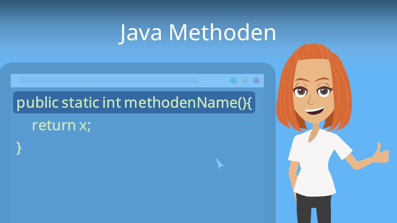Java Methoden Aufbau Aufruf Und Getter Setter Mit Video Mit Video