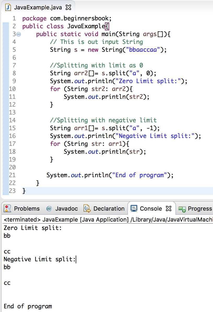 Java String Split Method With Examples