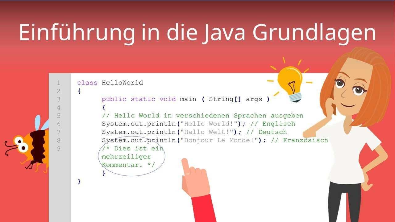 Java Grundlagen Einfach Erklart Mit Beispiel Mit Video Mit Video