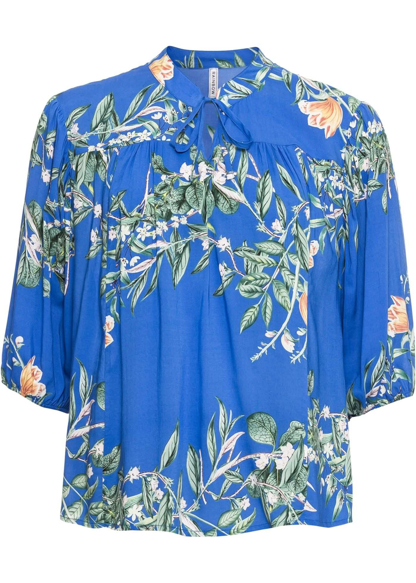 Tunika Bluse Stretch Jeans Floral Muster
