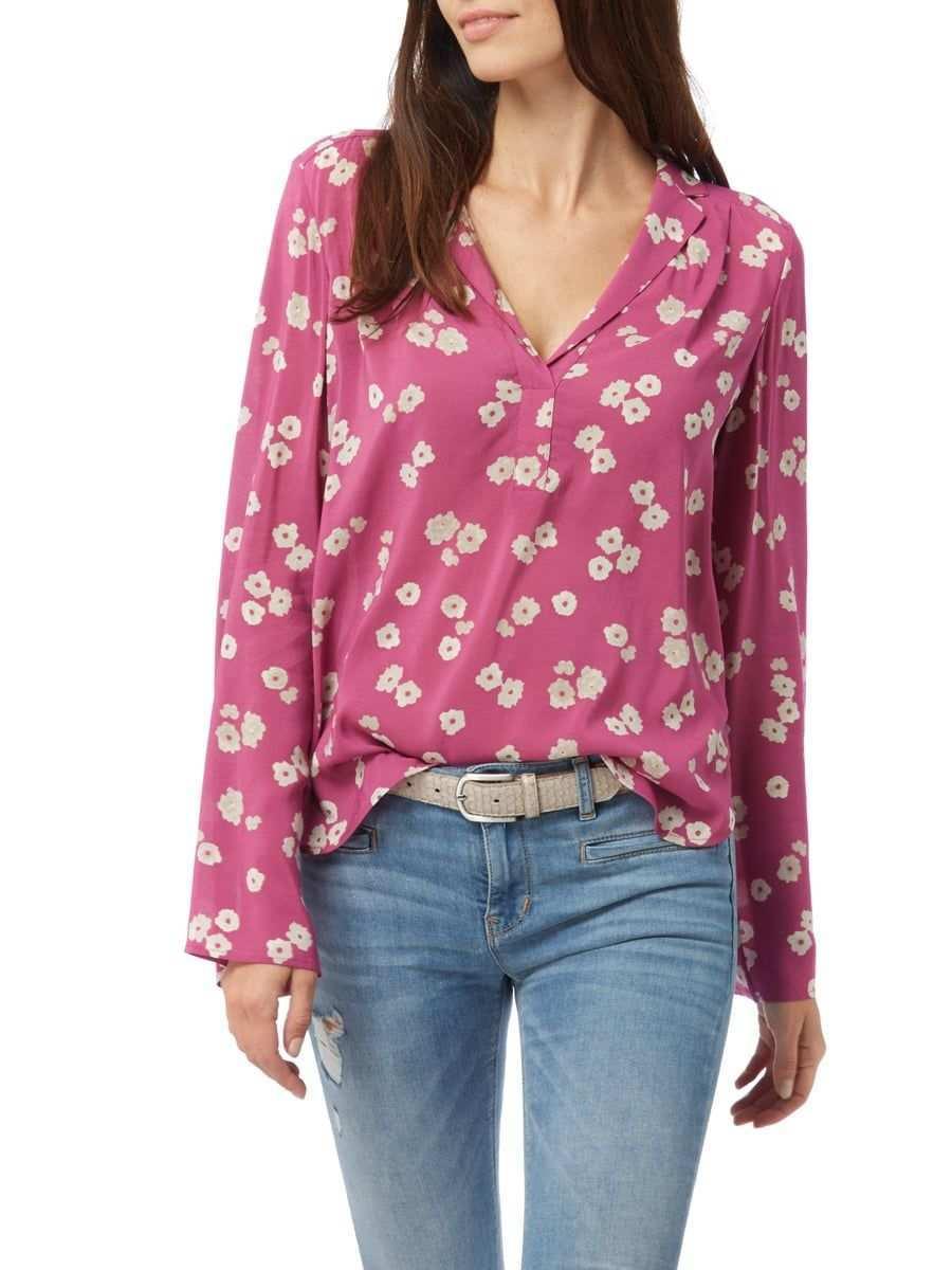 Marc O Polo Blusenshirt Mit Floralem Muster Violett 1 Soft Summer Palette Soft Summer Floral Tops