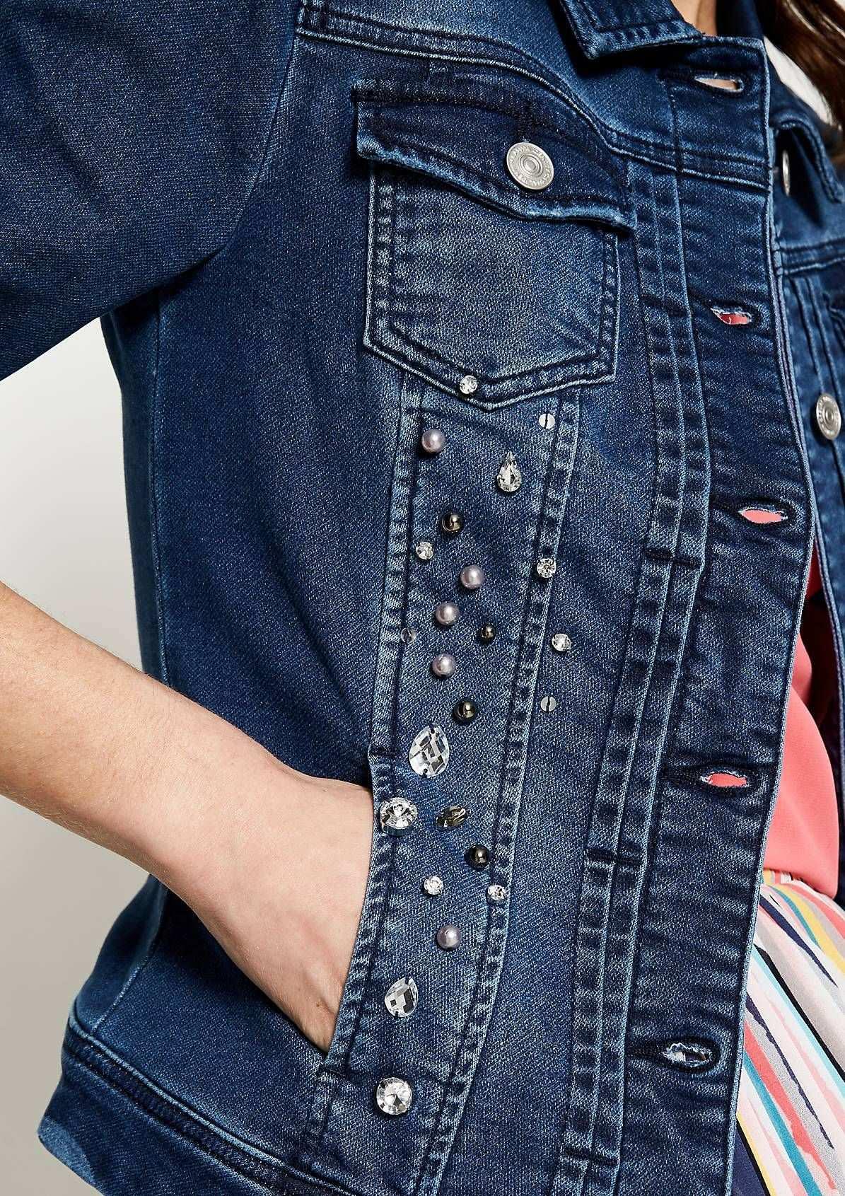 Sweaterjacke In Jeans Optik Jacken Bluse Jeans