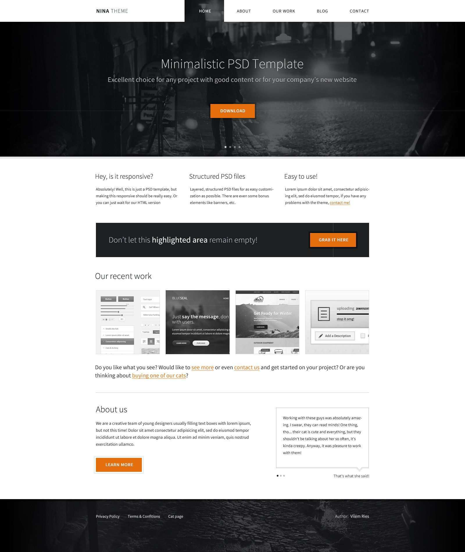 Nina Theme Business Website Templates Css Website Templates Css Templates