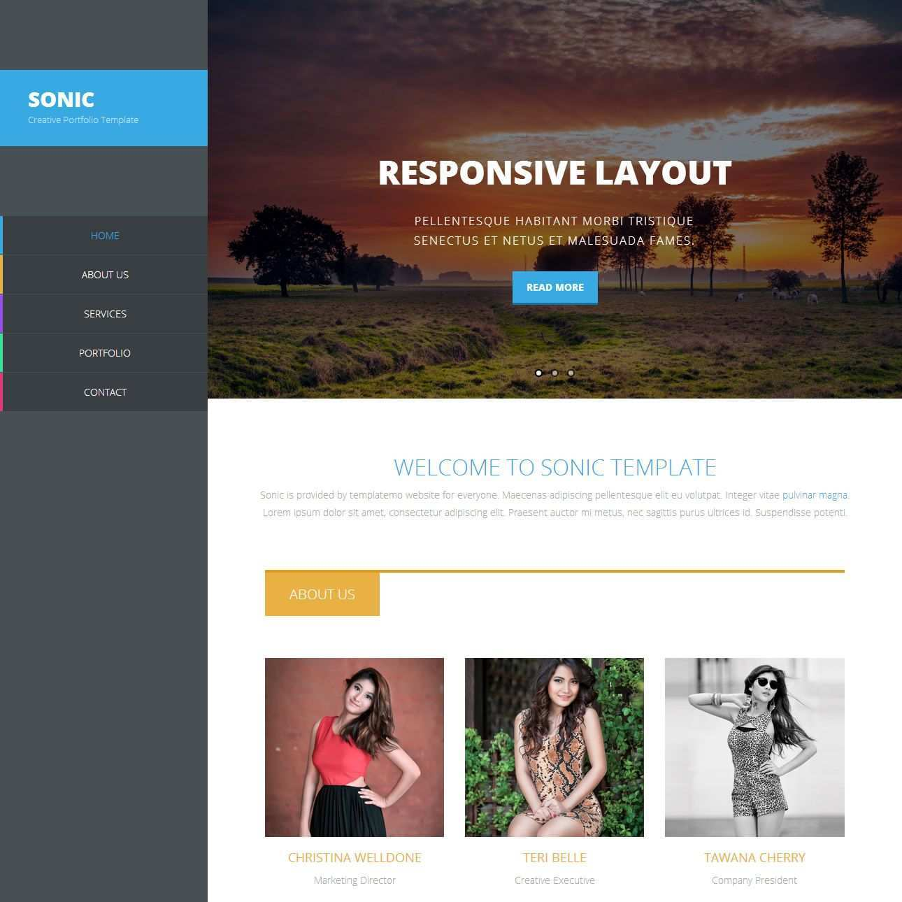 394 Sonic Template Templates Css Templates Bootstrap Template