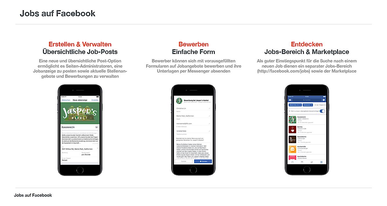 Neue Funktion Jobangebote Einstellen Und Direkt Uber Facebook Bewerben Allfacebook De