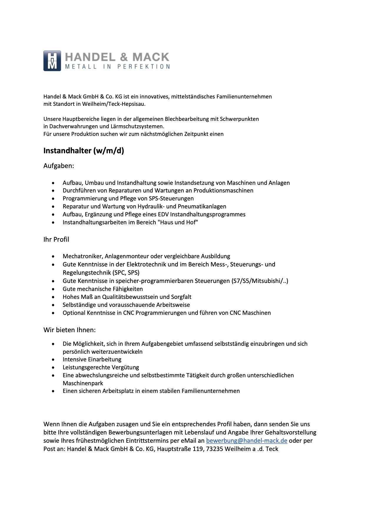 Jobs Handel Und Mack