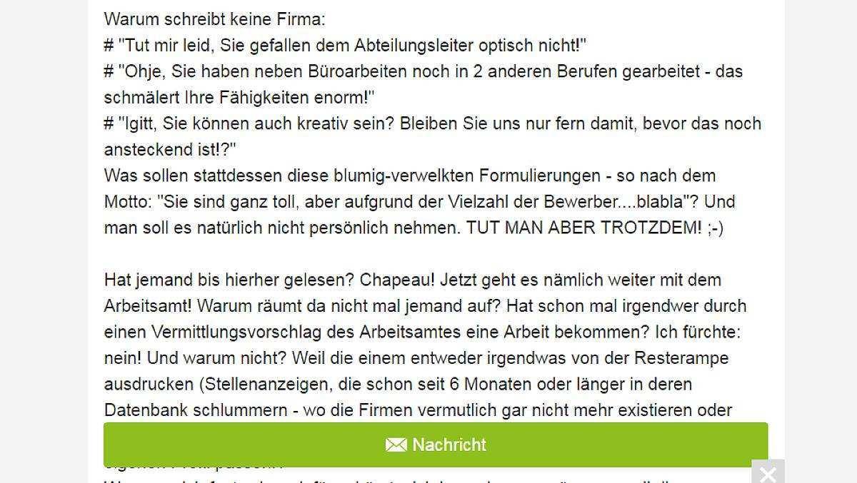 Burokauffrau Schaltet Auf Ebay Kleinanzeigen Provokantes Stellengesuch Focus Online