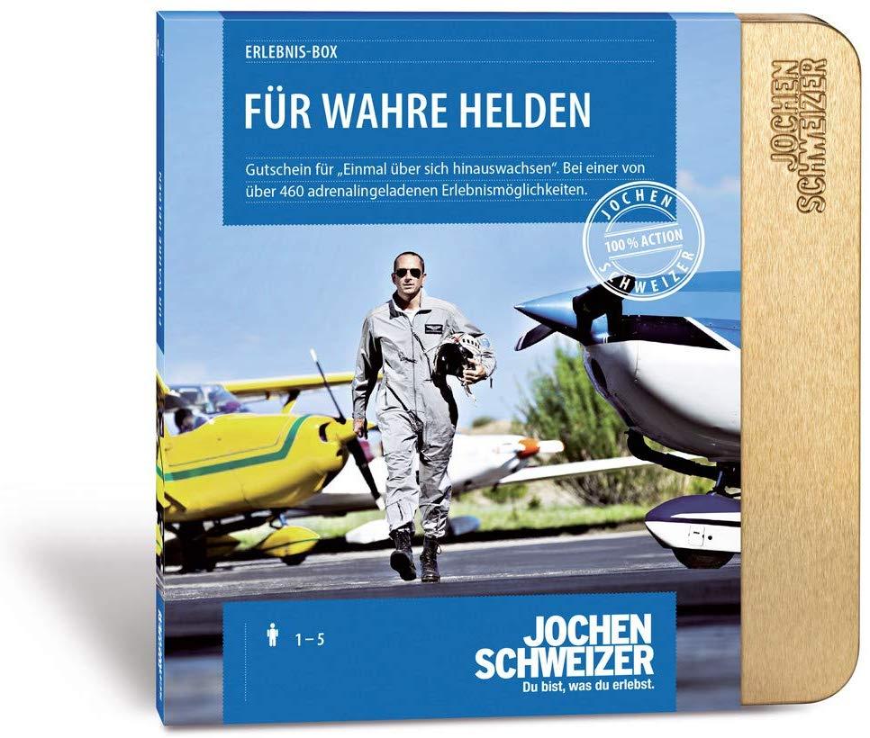 Jochen Schweizer Erlebnis Box Fur Wahre Helden Erlebnisgeschenke Helden Gutschein Geschenke