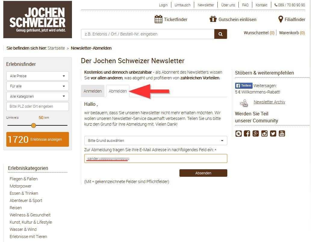 Jochen Schweizer Newsletter Abbestellen So Geht S Chip
